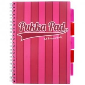 Kołozeszyt A4/100k Pukka Pad Project Book Vogue - różowy (8537-VOG)