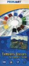 Farby tempery Prima Art 12 kolorów 12 ml w tubie