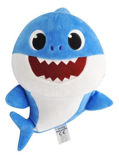 Baby Shark Maskotka / Pacynka śpiewająca Daddy Shark - kontrola tempa piosenki
