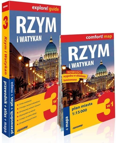 Rzym i Watykan 3w1 Przewodnik+atlas+mapa