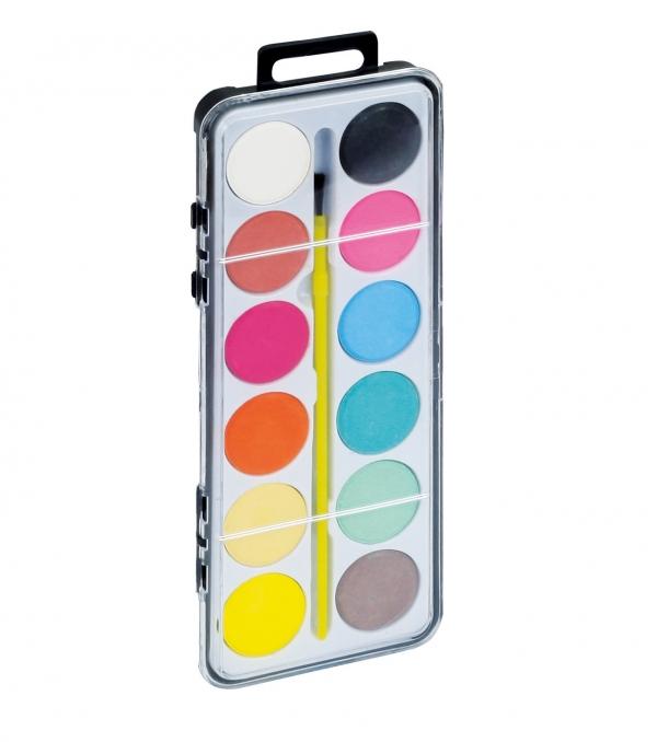 Farby akwarelowe Fiorello 12 kolorów