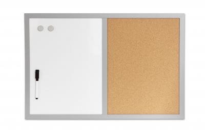 Tablica magnetyczna, korkowa 2w1 600 mm x 400 mm (255008)