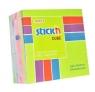 Notes samoprzylepny 76x76mm różowo-żółto-zielony  400 kartek
