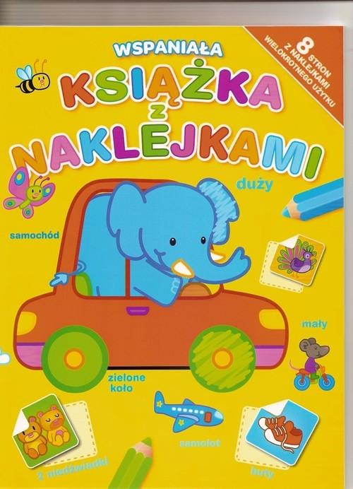Wspaniała książka z naklejkami żółta