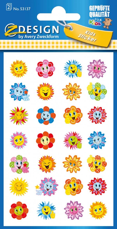Naklejki papierowe - kwiatki  (53137)