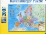 Puzzle XXL 200 Polityczna mapa Europy (128372)
