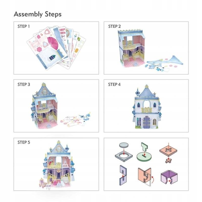 Puzzle 3D: Domek dla lalek - Fairytale Castle (306-20809)