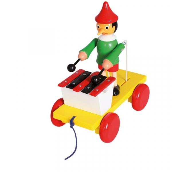 Drewniana zabawka z ksylofonem Pinokio (80037)