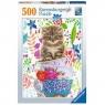 Puzzle 500:  Kocięta w kubku (15037)