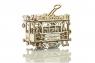 Drewniane puzzle 3D City Tram + tory kolejowe