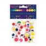 Ruchome oczka  mix - kolorowe, 75 szt. (KSOC-002)