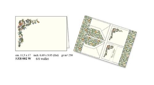Papeteria Wallet 6 kopert i 6 karnetów FZB 002W