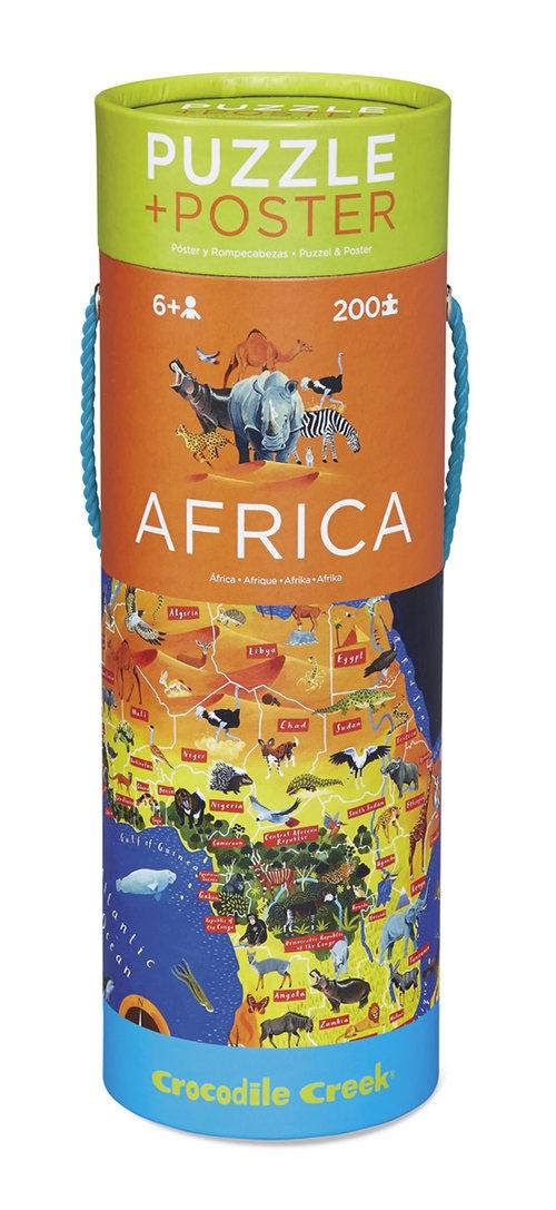 Puzzle 200 Mapa Afryki, Crocodile Creek