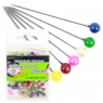 Szpilki 28 mm kolorowe perłowe 100 sztuk