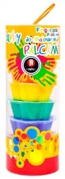 Farby do malowania palcami 8 kolorów tuba