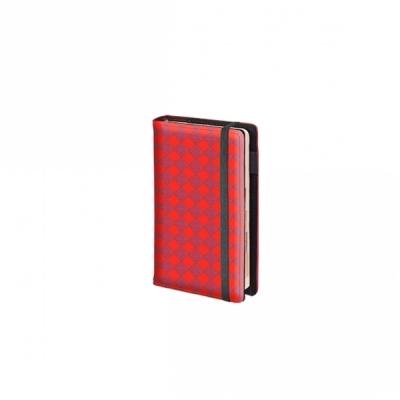 Kalendarz książkowy tygodniowy 20X27cm czerwony na gumkę 2018