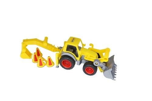 ConsTruck traktor-ładowarka z łyżką w siatce
