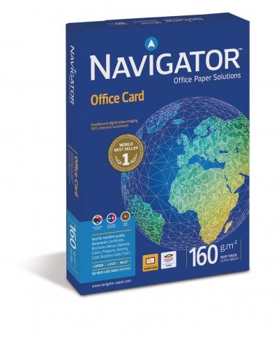 Papier ksero Navigator Office Card A4 - biały 250 k. 160 g 21 x 29,7 cm (8248)