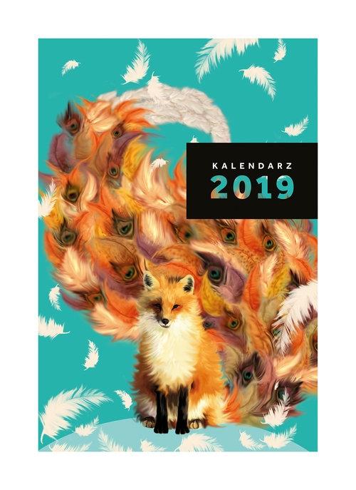 Kalendarz Narcissus A5 tygodniowy Fox 2019