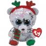 Beanie Boos Mistletoe - cekinowy świąteczny miś 15 cm (36337)