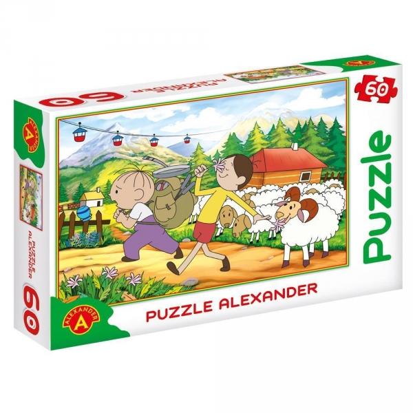 Puzzle 60 Bolek i Lolek Góry (0637)