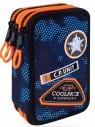 Coolpack - Jumper 3 - Piórnik potrójny z wyposażeniem - Navy (Badges)