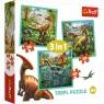 Puzzle 3w1: Niezwykły świat dinozaurów (34837)