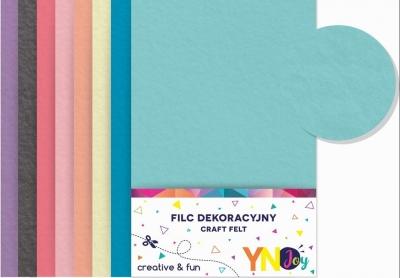 Filc dekoracyjny Pastel 8 kolorów YNJ NOSTER
