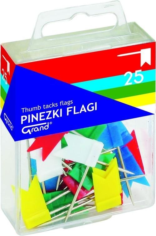 Pinezki Grand flaga 25 sztuk