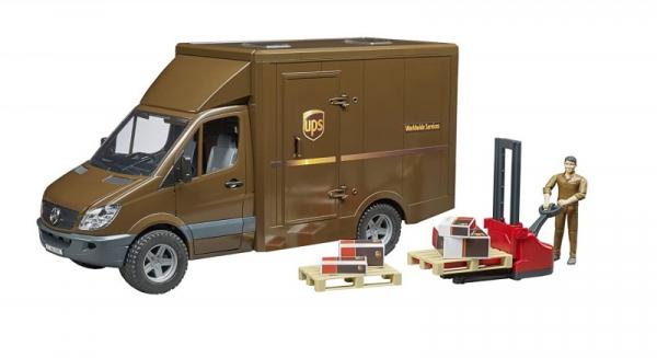 MB Sprinter UPS z figurką i podnośnikiem (BR-02538)