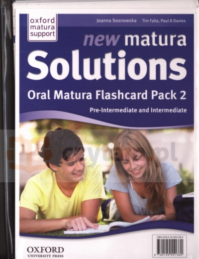 Matura Solutions New Pre-Inter Oral Flashcards (PL) Tim Falla I Paul A. Davies, Małgorzata Wieruszewska, Danuta Gryca, Joanna Sobierska