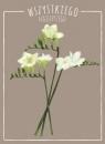 Karnet kwiaty akwarela Frezja 12x16,5 cm