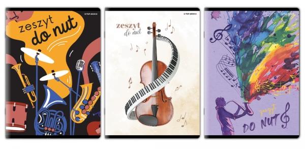 Zeszyt Top 2000 A4/16k, pięciolinia - Muzyka (400152062)