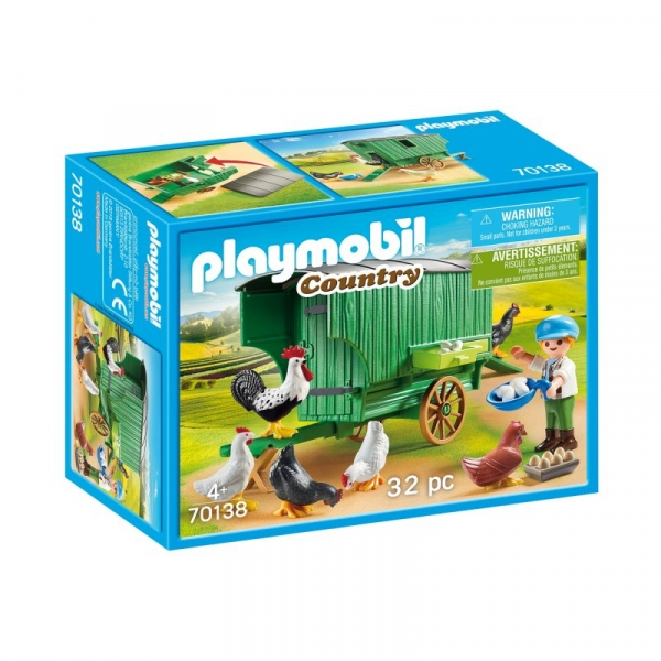 Playmobil Country: Mobilny kurnik (70138)