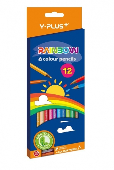 Kredki ołówkowe Rainbow + temperówka 12 kol