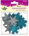 Dodatek dekoracyjny Titanum Craft-fun pianka kształty naklejki śnieżynki (YFXS104)