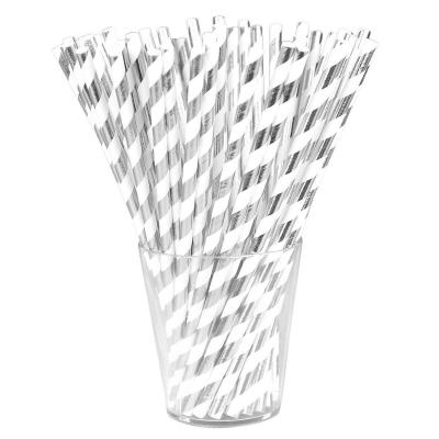 Słomka Arpex metaliczne paski (K9027)