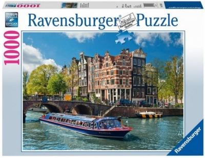 Puzzle 1000 Kanał wodny Amsterdam (191383)