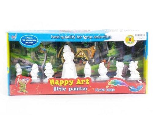 Figurki do malowania 8 elementów