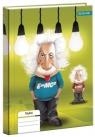 Brulion A5 Fizyka w kratkę 80 kartek Einstein