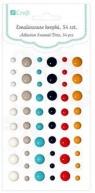 Emaliowane kropki samoprzylepne 54 szt. tropical dreams DPEM-007