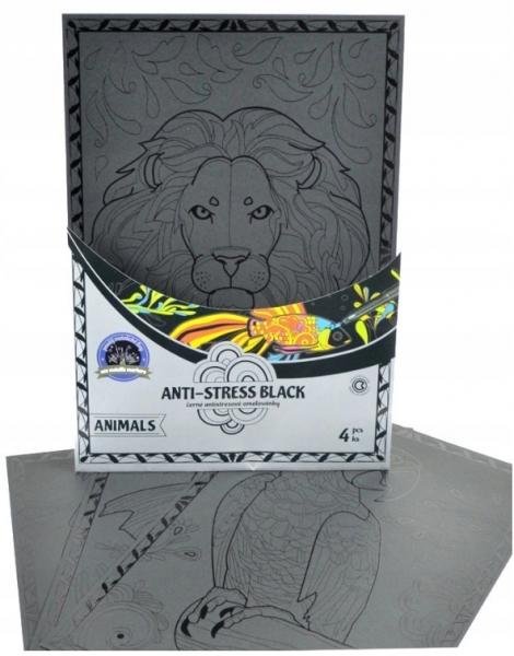 Centropen: Kolorowanka antystresowa Anti-stress Black 9997 - Zwierzęta