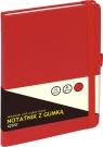 Notatnik z gumką A5 80 kartek czerwony