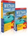 Wietnam, Kambodża, Laos 3w1: przewodnik + atlas + mapa explore! guide Królczyk Jakub