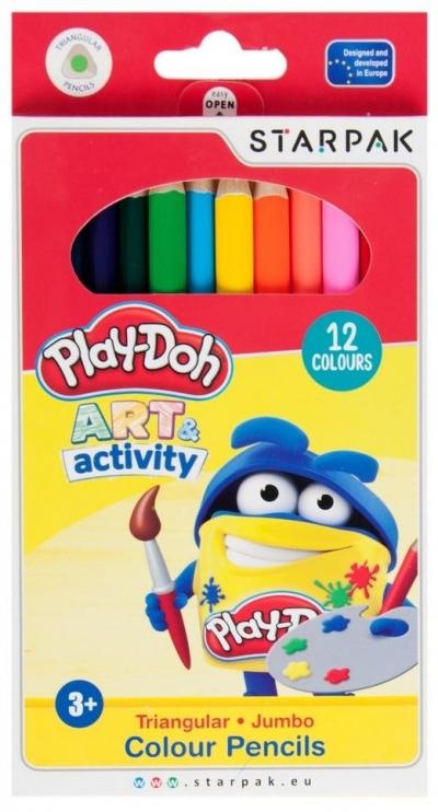 Kredki ołówkowe Jumbo 12 kolorów Play-Doh