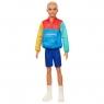 Barbie Fashionistas: Lalka stylowy Ken - Kolorowa bluza, blond włosy (DWK44/GRB88)