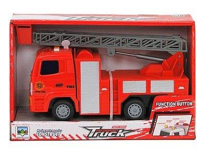 Samochód strażacki Adar z napędem na koło zam, światło, muzyka (511385)