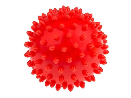 Tullo, Piłka rehabilitacyjna 9 cm, czerwona (438)