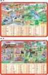 Podkładka edukacyjna Język Angielski. Home, Family   Garden, Town, Sport
