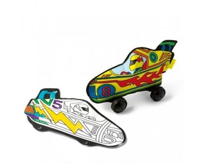 Kolorowanka 3D Wyścigówki.